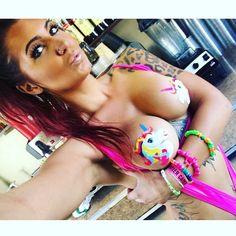 @alis0nx0barista rocking our unicorn pasties!! #unicorn #unicorningsohard #pasties #iheartraves #raveshop #awesome #bikini #bikinibarista #sexycoffee #sexy #hot #model #blogger #fashion #style #santamonia #newbusiness #burningman #boobs #girl #ravefam #festivalfashion