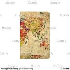 Modern and minimal no 4 skinny business card stationeries vintage world map journal gumiabroncs Choice Image