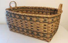 Cherokee Fireplace Basket hand woven rustic by JChoateBasketry, $65.00