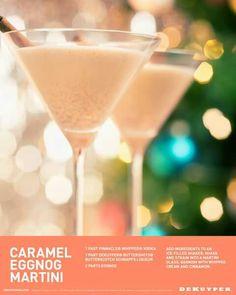 Carmel Eggnog Martini