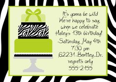 Birthday party invitation template party invitation preview printable birthday invitations for 12 year old girls animal print birthday invitations free for your bookmarktalkfo Images