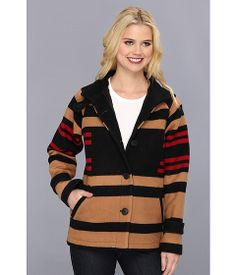 The Portland Collection by Pendleton Toboggan Coat Pinyon Stripe - Zappos.com Free Shipping BOTH Ways