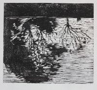 Reflections. Woodcut
