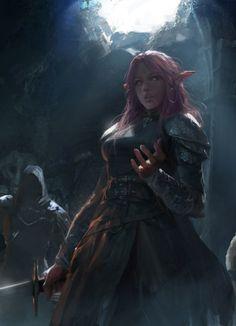 """fantasyartwatch: """" Elven Warrior by Huadong Lan """""""