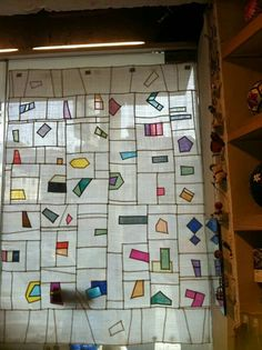 A whimsical modern pojagi design. Fabric Art, Fabric Crafts, Quilted Curtains, Korean Crafts, Asian Quilts, Patch Quilt, Vintage Quilts, Window Coverings, Soft Furnishings