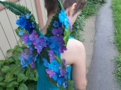 Leafy Fern Fairy Wings with Purple and Blue by FairyFlowerDreams