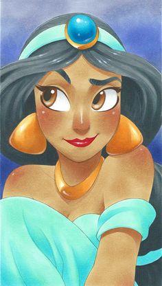 Disney-Prinzessinnen im Manga-Stil von Chihiro Howe - Anime Bilder Ariel Disney, Disney Pixar, Disney Jasmine, Disney Princess Art, Disney Memes, Disney And Dreamworks, Walt Disney, Jasmine Jasmine, Aladdin Princess