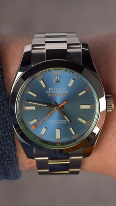 #luxury #rolex #milgauss #zbluedial #rolexwatch #toolwatch #scientist #antimagnetic #bluedialwatch #luxurywatch #timepiece #rolexmilgauss #watches Mens Fashion Suits, Mens Suits, Used Rolex, Rolex Watches, Luxury, Blue, Style, Dress Suits For Men, Swag