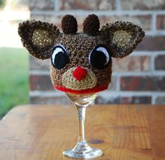 Reindeer hat Baby hat toddler sizes to by BitofWhimsyCrochet, $32.99