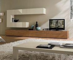 meuble Tv laqué en bois