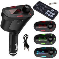 New 1pcs Pipe shape Car Kit MP3 Player Wireless FM Transmitter Modulator USB for LCD Remote Red Hot Selling *** Prodolzhit' k produktu po ssylke izobrazheniya.