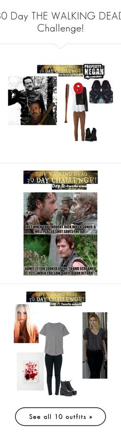 """""""30 Day THE WALKING DEAD Challenge!"""" by batgirl-at-the-disco3 ❤ liked on Polyvore featuring Lucille, J Brand, Lands' End, Capezio, Yves Saint Laurent, scene, laugh, thewalkingdead, TWD and negan"""