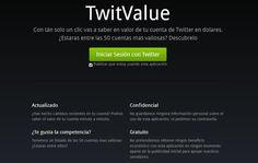 TwitValue, estima el valor de tu cuenta en la red social Twitter