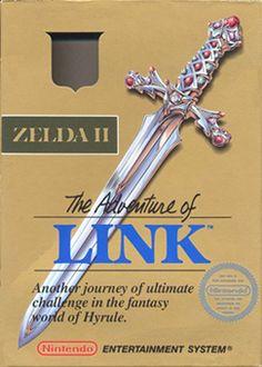 Zelda II: The Adventure of Link (Nintendo Entertainment System, NES, Video Vintage, Vintage Video Games, Classic Video Games, Retro Video Games, Video Game Art, Retro Games, Vintage Games, Super Nintendo, Nintendo 64
