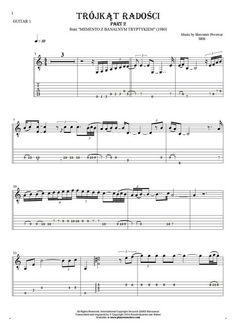 Trójkąt radości - SBB. From album Memento z banalnym tryptykiem (1980). Part: Notes and tablature for guitar - guitar 1 part