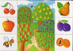 PRIMAVERA. FICHAS Y POESÍAS tomado de nmartisa Fruits And Vegetables, Special Education, Flora, Kindergarten, Preschool, Teaching, Puzzle, Kids, Speech Therapy