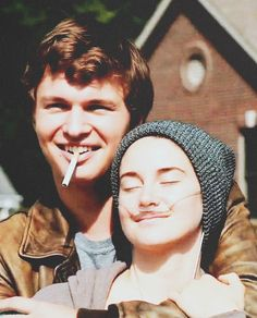 The fault in our stars - hazel grace lancaster and Augustus waters Hazel Y Augustus, Augustus Waters, Series Quotes, Hazel Grace Lancaster, John Green Books, Ansel Elgort, Star Quotes, Movie Couples, Tfios