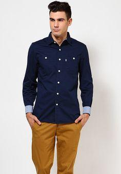 e0c8e4f09733 Buy Levis Dress Blue Stock Work Shirt Blue Casual Shirts Online - 3759433 -  Jabong