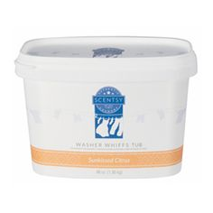 Sunkissed Citrus 48 oz Washer Whiff Tub.   It's pure indulgence: fragrance for your clothes! Add a scoop of Washer Whiffs to your washer drum and enhance your clothing with Scentsy fragrance. For best results, use with Laundry Liquid. www.meltalilscent.scentsy.us