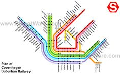 Copenhagen subway map