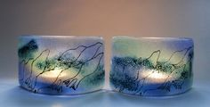 Fused Glass - for tealights Fused Glass, Stained Glass, Glass Coasters, Tea Lights, Shot Glass, Soap Dishes, Diy Crafts, Ceramics, Crafty