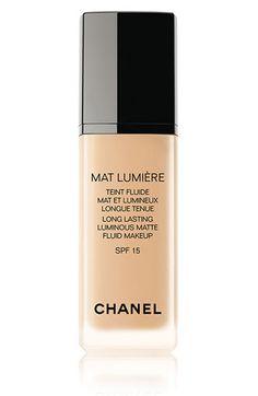 CHANEL MAT LUMIÈRE  Long-Lasting Soft Matte Sunscreen Makeup Broad Spectrum SPF 15