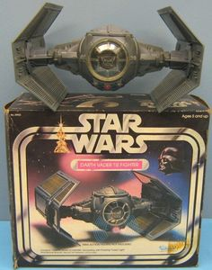 This Kenner 1977 Star Wars Darth Vader Tie Fighter Spaceship model brings back a lot of memories. I had this model suspended from the ceiling of my bedroom using fishing wire. I had also glued small glow-in-the-dark pieces on the edges of the ship so I could see it when I turned out the lights to go to sleep...