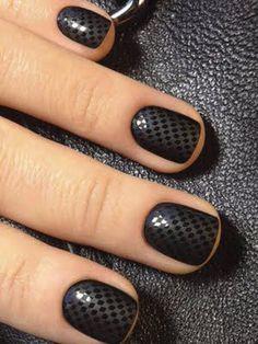 Nail Patch pointillé - 30 nail art appropriés pour aller au bureau - Photos Beauté - Be.com