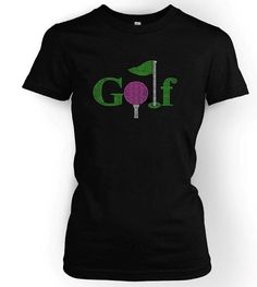 Ladies Golf Logo Shirt  Ladies Rhinestone by GirlExtraOrdinaire