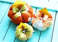 Zucche in tessuto patchwork, ideali per decorare la casa - Ispirando