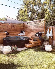 Casa Patio, Backyard Patio, Backyard Landscaping, Stock Pools, Stock Tank Pool, Kleiner Pool Design, Backyard Makeover, Outdoor Living, Outdoor Decor