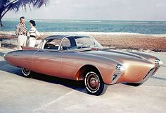 Futuristic car.  1956 Olds Golden Rocket.