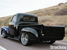 Scott Anderson wanted people to do a double take when they saw his 1951 Chevrolet Pickup, and after taking it to Cope Design it's now a rolling piece of art that no one can miss. Bagged Trucks, Lowered Trucks, Gm Trucks, Cool Trucks, 53 Chevy Truck, Chevrolet Trucks, Classic Pickup Trucks, Old Pickup Trucks, Chevy Pickups