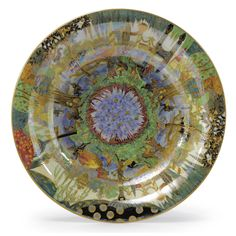 A WEDGWOOD FAIRYLAND LUSTRE LILY TRAY 1920s decorated with 'Fairy Gondola',