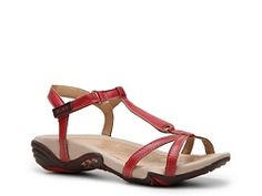 J-41 Shasta Sport Sandal - Funny it shows it in orange/red but the DSW site shoes only gray and neutral. Not sure how these will fit - Time to go try them on.