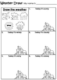Printables Science Weather Worksheets worksheets and weather on pinterest draw the worksheet by beverley more