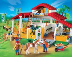 playmobil horse barn.. if Molly were still little I would absolutely own this...