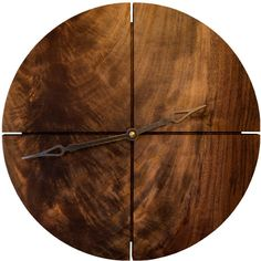 Royal-Pedic Joinery Round Clock ($100) ❤ liked on Polyvore