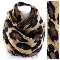 "B99 Brown Animal Print Faux Fur Infinity Scarf Reversible Long Hair Faux Fur Infinity Scarf Unbelievably soft and warm!  High quality. So soft you will want to sleep with this scarf.  12"" wide, 27"" long.  100% acrylic.  Please check my closet for many more items including clothing and jewelry. ‼️ PRICE FIRM UNLESS BUNDLED WITH OTHER ITEMS FROM MY CLOSET ‼️ Boutique Accessories Scarves & Wraps"