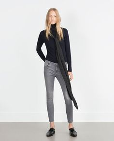 Image 1 of CROPPED JEANS from Zara
