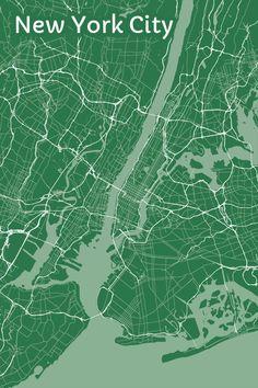 New York City Metropolitan Artistic Map 18 x 24 by MapHazardly, $30.00