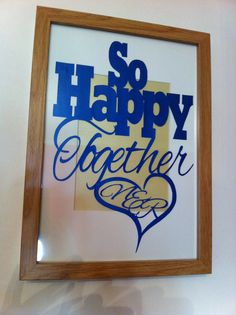 Lovely anniversary papercut at Lily's cutting pad on facebook