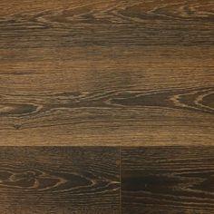 "White Oak Black & Tan 9/16 x 7-1/2"" Wire Brushed Engineered Hardwood Flooring"