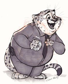"Inktober2017-Fat by Stray-Sketches.deviantart.com on @DeviantArt #cartoons #cheetah #cheetahs #disney #fanart #inks #zootopia #inktober #straysketches #inktober2017 #ballpointpen #traditionalart #clawhauser #officerclawhauser Inktober Day 16 - ""Fat""  Featuring Officer Clawhauser"