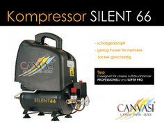 Kompressor - Silent 66 - extrem leise Tacker, Canvas Paper, Canvas Frame