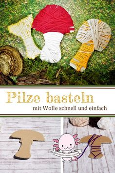 Make mushrooms - The world of mushrooms is mysterious and full of little miracles. Here is a handicraft idea for woo - Thinking Of Someone, Textiles, Autumn Crafts, Art Plastique, Textile Art, Stuffed Mushrooms, About Me Blog, Christmas Tree, Kids Rugs