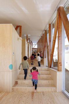 Image 6 of 14 from gallery of Hakusui Nursery School / Yamazaki Kentaro Design Workshop. Courtesy of Yamazaki Kentaro Design Workshop Education Architecture, School Architecture, Primary School, Elementary Schools, Design Maternelle, Ecole Design, Kindergarten Design, Workshop Design, Nursery School