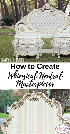 How to Create Neutral and Whimsical Pieces - Dixie Belle Paint Company Diamond Furniture, Silver Dresser, Whimsical Painted Furniture, Custom Headboard, Harlequin Pattern, Paint Companies, Dixie Belle Paint, Mineral Paint, Awesome Bedrooms