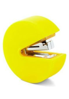 Leader of the Pac Stapler - Yellow, Solid, Vintage Inspired
