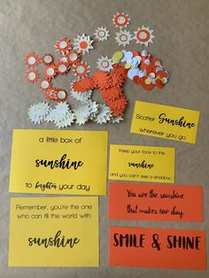 This sunshine care package is full of yellow items and is decorated with yellow and orange papers and sunshine sayings. It includes a free printable. Diy Gifts For Mothers, Diy Crafts For Gifts, Bff Gifts, Grad Gifts, Diy Gifts For Boyfriend, Sunshine Care Package, Birthday Care Packages, Decorated Gift Bags, Gifts For Colleagues